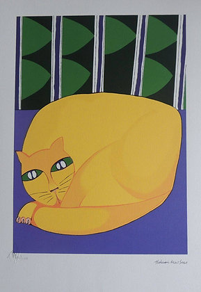 Gato Amarelo Deitado