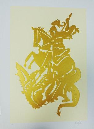 São Jorge Guerreiro - Dourado