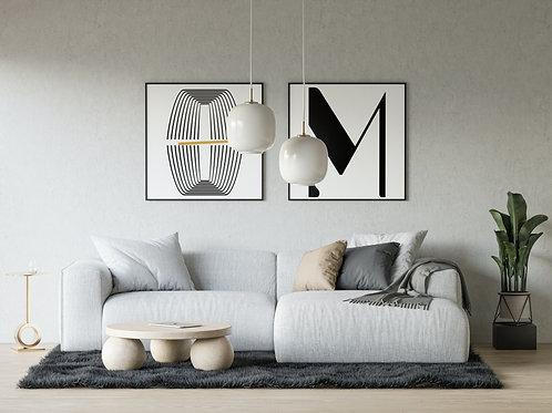 Art Deco Lettering - Printable Wall Art