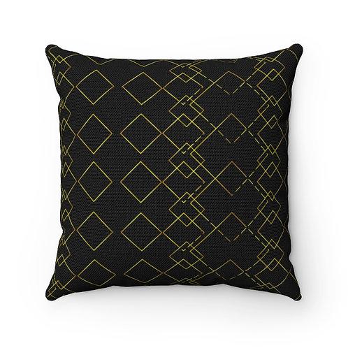 """Complicated Diamond"" Designer Throw Pillow"