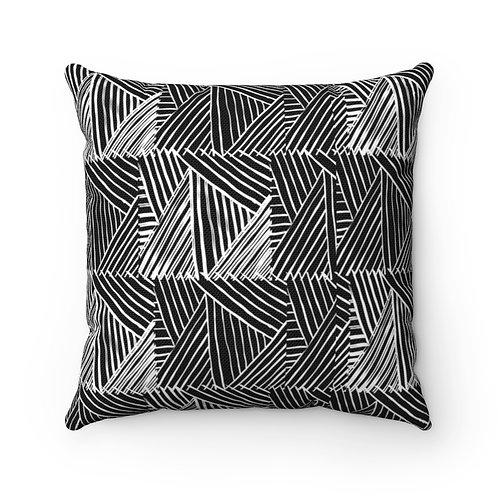 """Patchwork Zebra"" Designer Throw Pillow"