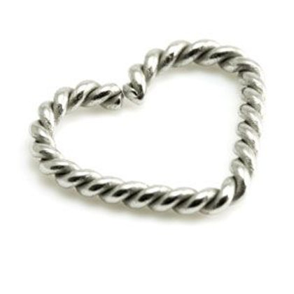 Twisted Steel Heart Ring