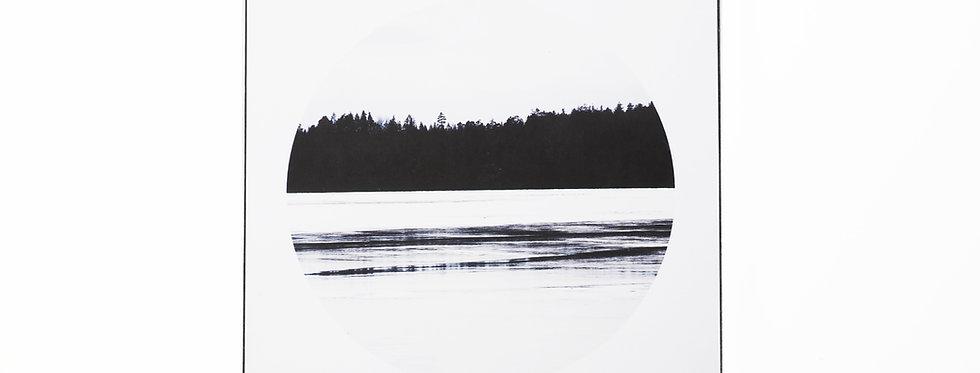 holzbild . lake
