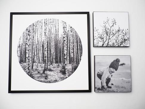 Kunstdruck 32x32cm inkl. schwarzem Aluminium-Bilderrahmen   1x 32x32cm Kunstdruck + 2x MDF Bild - davon ein individuelles Bild von dir oder deinen Lieben.  Set 99€  Artikelnr: 4009 Bestellung per Kontaktformular