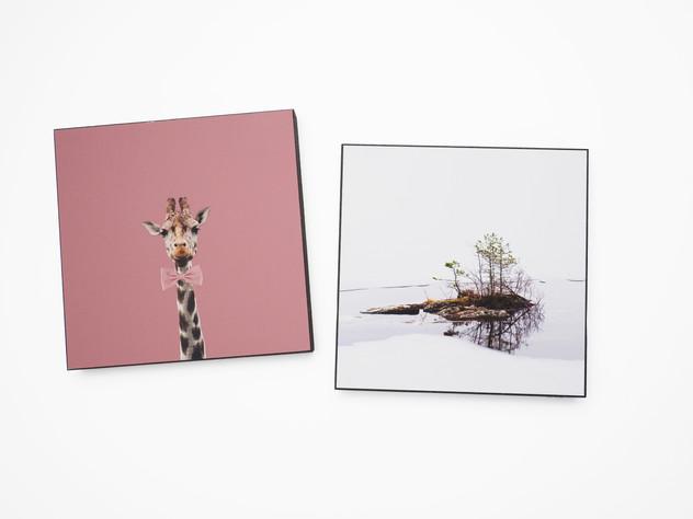 Holzbild 15x15cm  Kunstdruck auf schwarz durchfärbtem MDF. Zum hinhängen und hinstellen!  je 29€  Artikelnr: 2008 & 2026 Bestellung per Kontaktformular