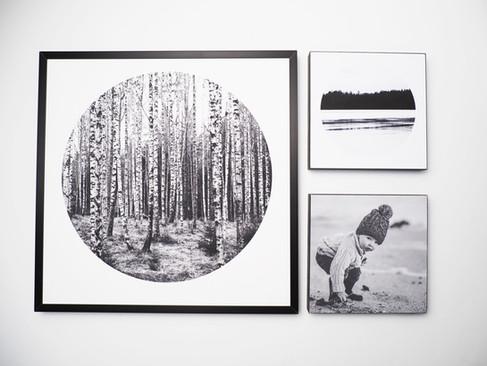 Kunstdruck 32x32cm inkl. schwarzem Aluminium-Bilderrahmen   1x 32x32cm Kunstdruck + 2x MDF Bild - davon ein individuelles Bild von dir oder deinen Lieben.  Set 99€  Artikelnr: 4011 Bestellung per Kontaktformular