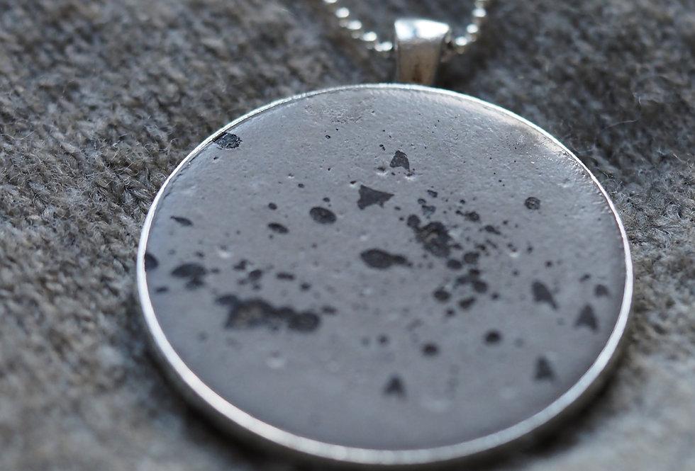 black ink silver pendan XL