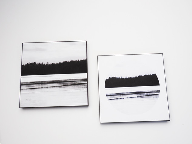 Holzbild 15x15cm  Kunstdruck auf schwarz durchfärbtem MDF. Zum hinhängen und hinstellen!  je 29€  Artikelnr: 2006 & 2007 Bestellung per Kontaktformular