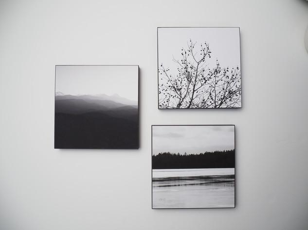 Holzbild 15x15cm  Kunstdruck auf schwarz durchfärbtem MDF. Zum hinhängen und hinstellen!  je 29€  Artikelnr: 2001, 2002 & 2007 Bestellung per Kontaktformular