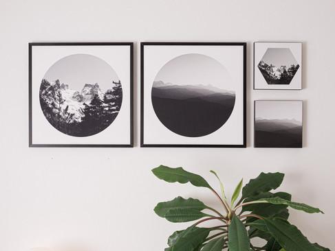2x Kunstdruck 32x32cm inkl. schwarzen Aluminium-Bilderrahmen   Set 152€  Artikelnr: 4017 Bestellung per Kontaktformular