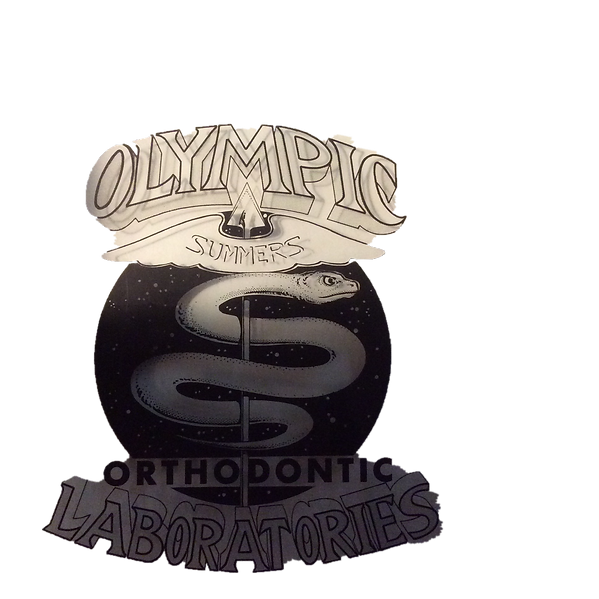 The logo for over 40 years to An Orthodotic Laboratory, Olympic Labortories