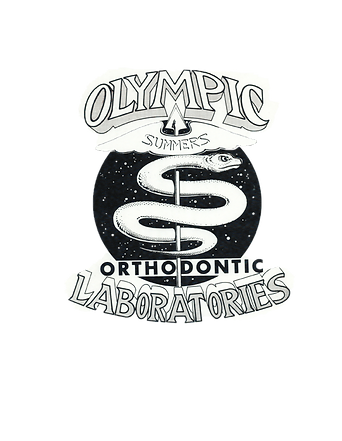 Olympic Orthodontic Laboratories logo in the design process back in 1942.