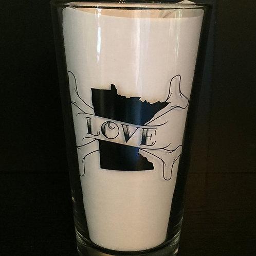 MN Love Pint Glass
