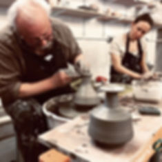 Wheel throwing classes at Edinburgh Ceramics Workshop