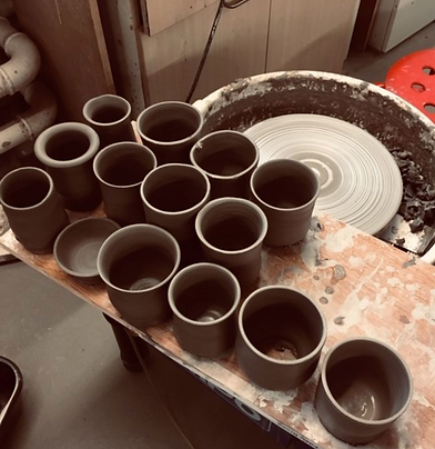 Wheel throwing at our friendly and fully resourced ceramics studio in Edinburgh