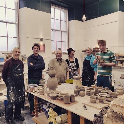 Pottery Class participants at Edinburgh Ceramics Workshop