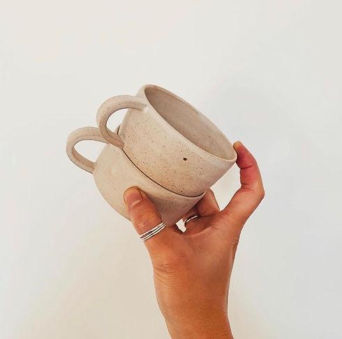 Hand crafted ceramic mug created in Edinburgh Ceramics Workshop.