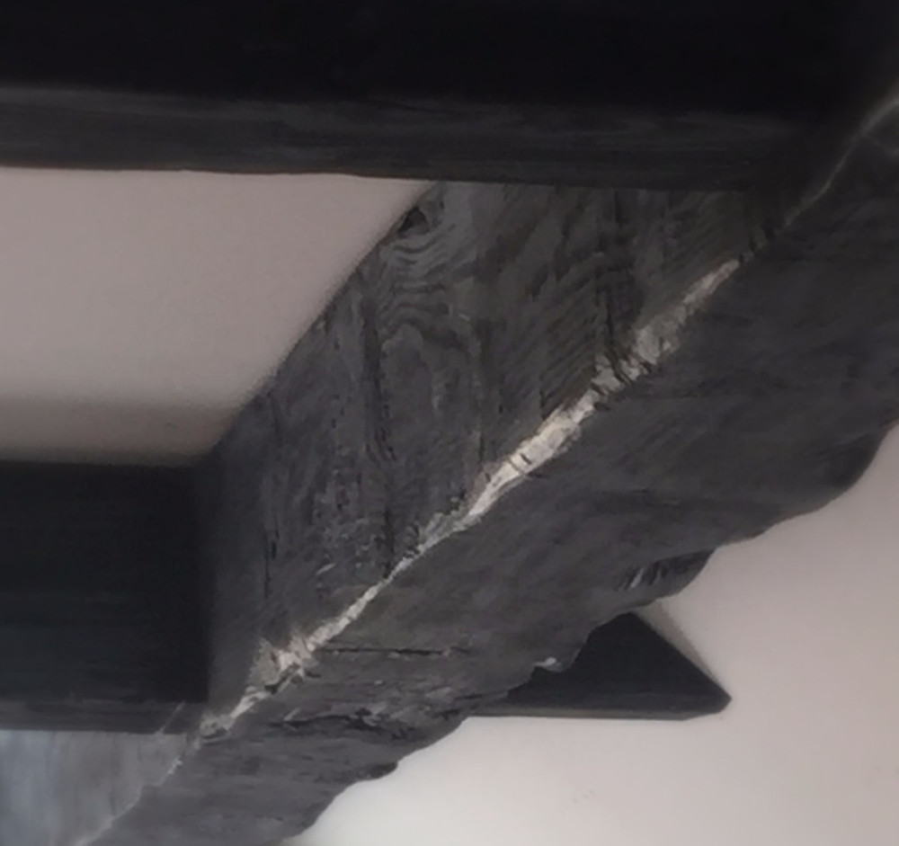 Distressed hand made beams
