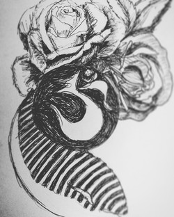 Whale Rose Om