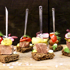 Beef Tongue Canapes