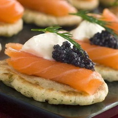 Blini with Salmon and Caviar