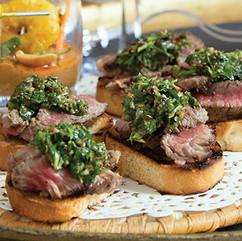 Steak Chimichurri Crostini