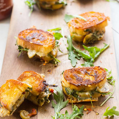 Mini Grilled Cheese Toasts