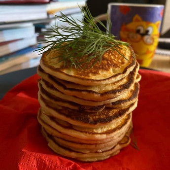 Cured Salmon and Mini-Pancakes