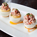 Crab Truffled Deviled Eggs
