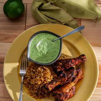 The Famous Peruvian Chicken with Green Sauce