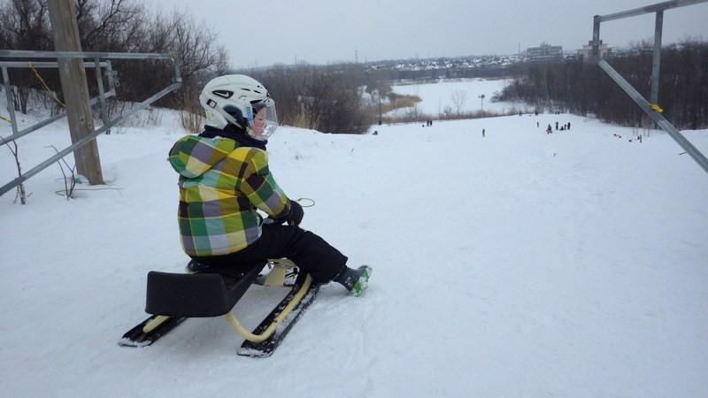 parc bois-de-liesse nature winter park sledding tobogganing