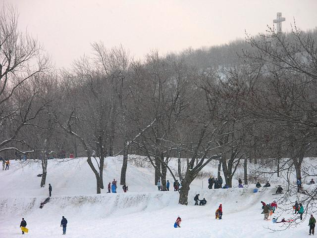 parc mont royal winter park sledding tobogganing