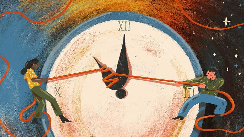 daylight savings time change clock tug of war fight