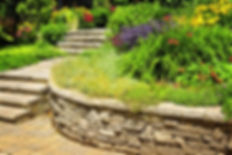 Création muret en pierres jardin Pau