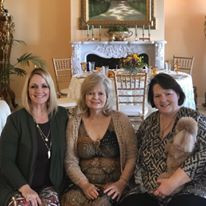 Kim Wendland, Tammy Sutton and Retha Tucker with Bailey