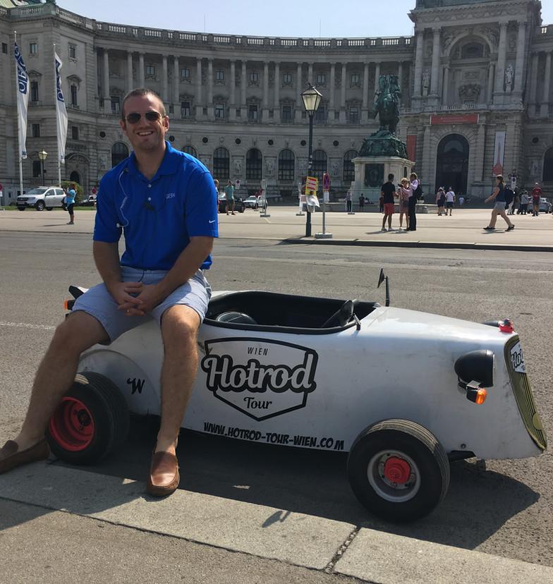 Go Cart riding in Salzburg, Austria
