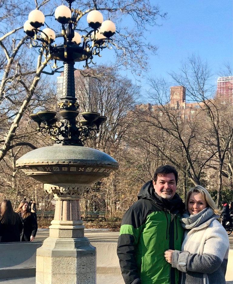 Central Park with my hubs