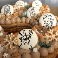 NUMBER CAKE REINE NEIGE BIS
