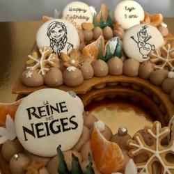 NUMBER CAKE REINE NEIGE