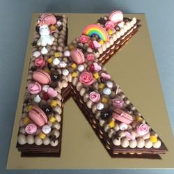 Letter cake K