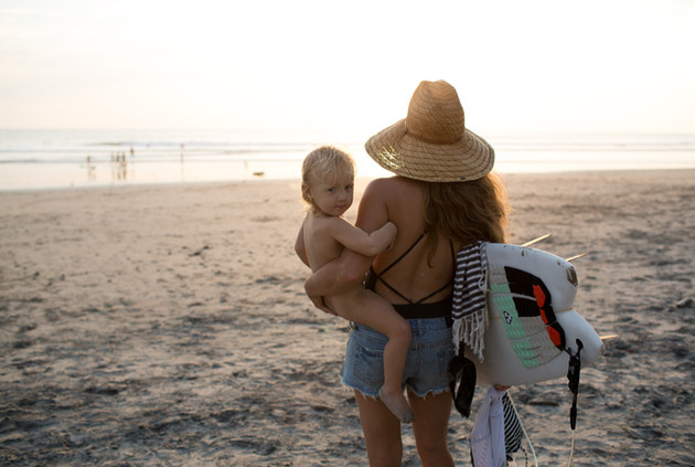 Family surf vacation