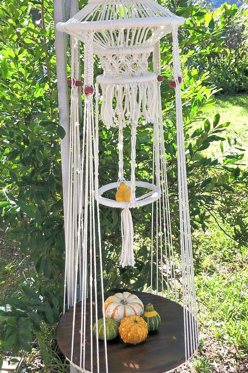 Macrame hanging table or plant holder