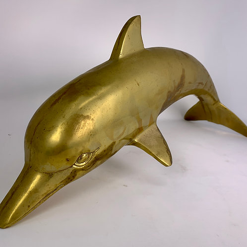 Large Brass Dolphin