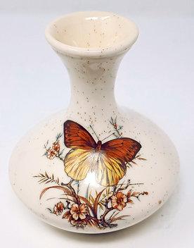 Vintage Butterfly Bud Vase