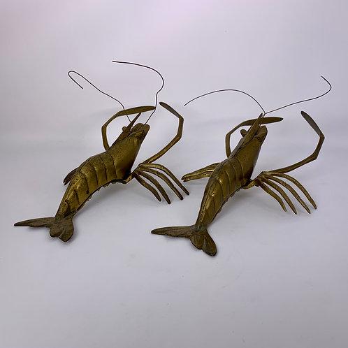 Vintage Brass Shrimp