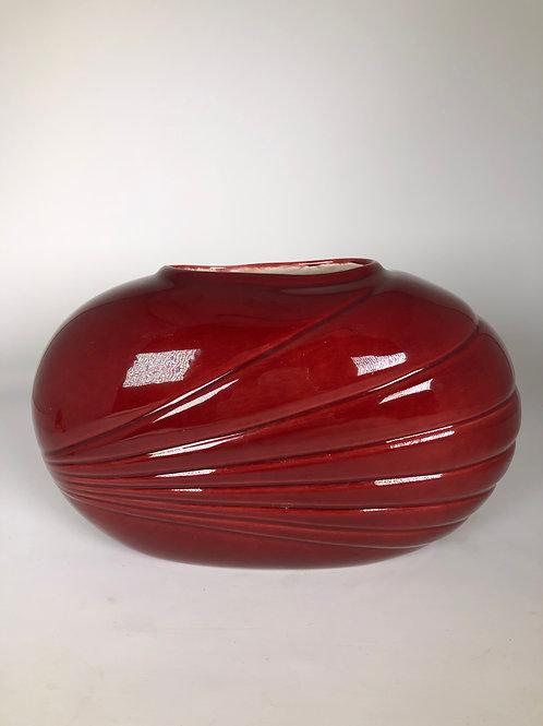 Vintage Scalloped Vase
