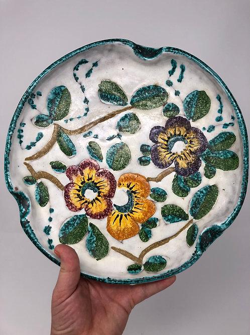 Vintage Handpainted Ceramic Italian Cigar Ashtray