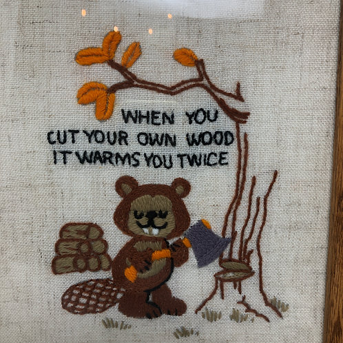 "Saysews Crewel Kit ""Cut your own wood"" Vintage 1978"