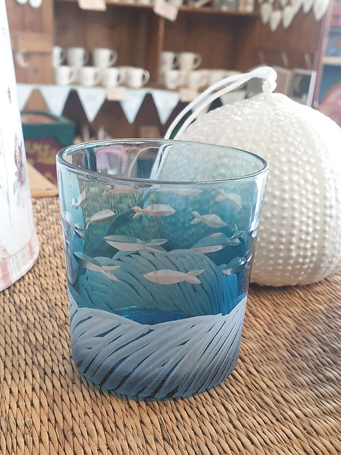 Glass Nite lite - Etched Fish