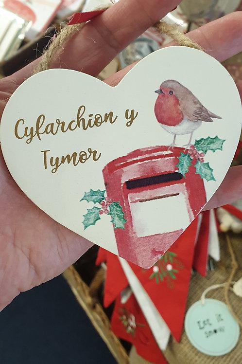 Cyfarchion y tymor heart